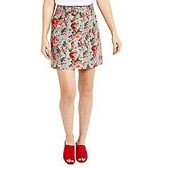 Oasis - Rose texture print skirt