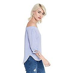 Oasis - Ticking stripe bardot top