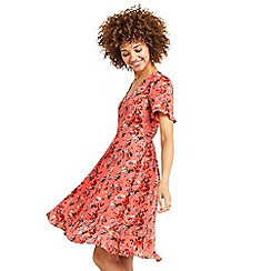Oasis - Long utility rose tea dress