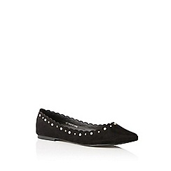 Oasis - Black 'Polly' pearl flat shoes