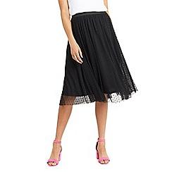 Oasis - Spot mesh gathered skirt