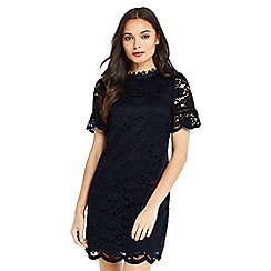Oasis - Lace flute sleeves a line shift dress