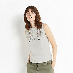 Oasis - Embroidered shell top