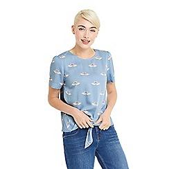 Oasis - Swan tie front tshirt