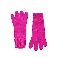 Oasis - Pink 'Jenny' knitted gloves