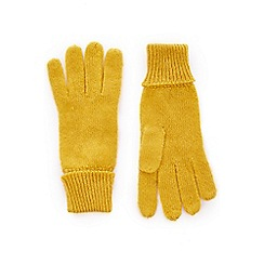 Oasis - Yellow 'jenny' knitted gloves