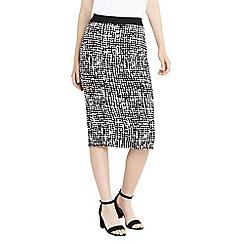 Oasis - Texture print pencil skirt