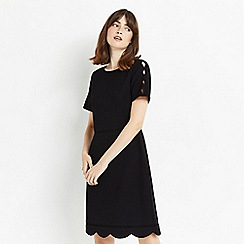 Oasis - Scallop sleeves dress