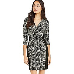 Oasis - Mono crepe wrap dress