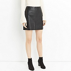 Oasis - Faux leather croc mini skirt