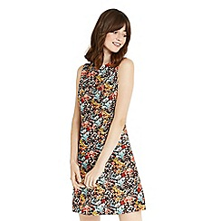 Oasis - Multi coloured floral print cord dress