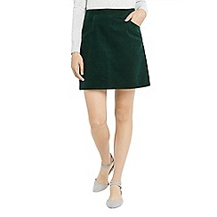 Oasis - Teal cut about cord skirt