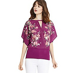 Oasis - Kimono woven wrap top
