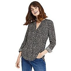 Oasis - Animal pintuck shirt