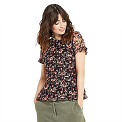 Oasis - Mini rose peplum top