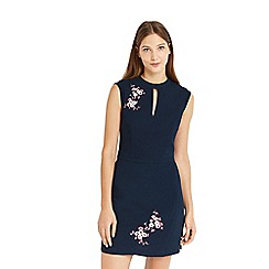 Oasis - Multi blossom print embroidered dress