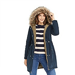 Oasis - Navy and khaki 'Remi' reversible parka