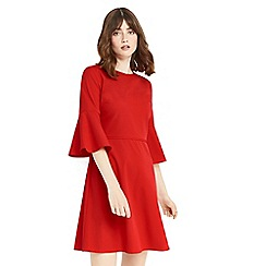 Oasis - Red flute sleeves dress