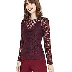 Oasis - Lace puff sleeves t-shirt