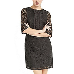Oasis - Grey kick sleeve lace dress