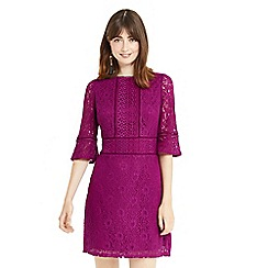 Oasis - Pink kick sleeves lace dress