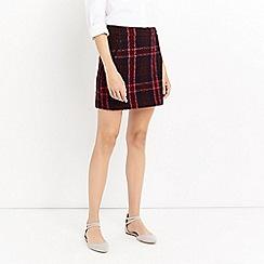Oasis - Merlot check 'Marley' skirt