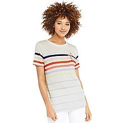 Oasis - Rainbow stripe flamingo tshirt