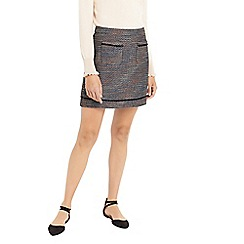 Oasis - Multi colour boucle tweed mini skirt
