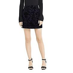 Oasis - Flocked mini skirt