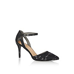 Oasis - Multi black 'Ellis' lace court shoes