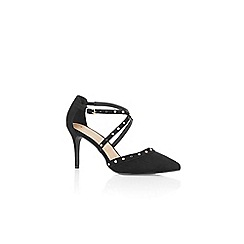 Oasis - Black 'Sabrina' pearl strappy court shoes