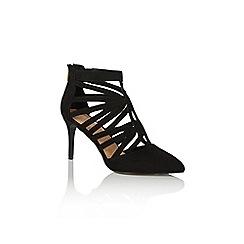 Oasis - Black 'Cali' cage detail shoes