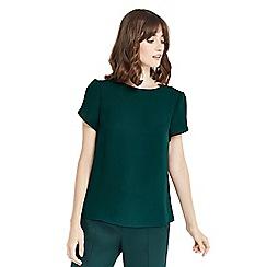 Oasis - Dark green petal sleeve t-shirt