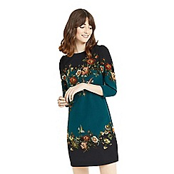 Oasis - Multi green 'Rosetti' floral print placement shift dress