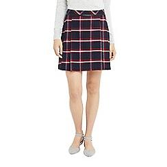 Oasis - Multi marais check poppy skirt
