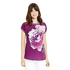 Oasis - Purple digital floral dream t-shirt