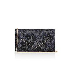 Oasis - Black and blue NTU jacquard envelope clutch