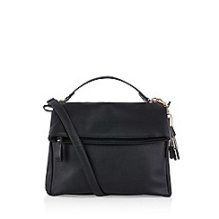 Oasis - Black 'Freddie' fold over zip satchel