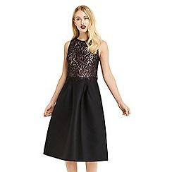Oasis - Multi black 'NTU' lace 2 in 1 midi dress