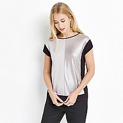 Oasis - Silver colourblock liquid top