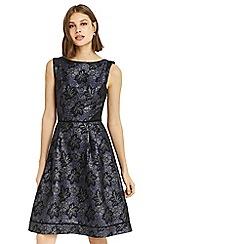 Oasis - Multi blue NTU jacquard skater dress