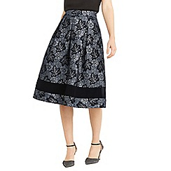Oasis - Multi grey NTU full midi skirt
