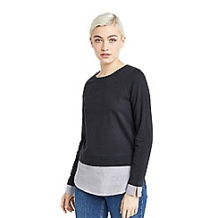Oasis - Black sweat shirt tails top