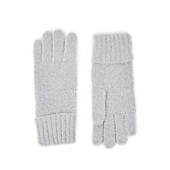 Oasis - Grey sparkle knitted gloves
