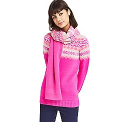 Oasis - Multi pink 'Fair Isle' ombre scarf