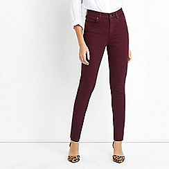 Oasis - Wine new skinny 'Lily' jeans