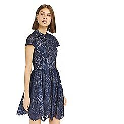 Oasis - Blue NTU 'Stella' lace skater dress