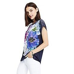 Oasis - Navy digital floral dream t-shirt