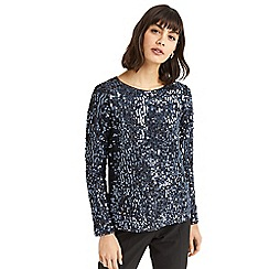 Oasis - Silver sequin tinsel top