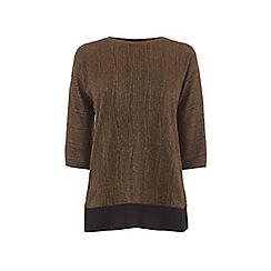 Oasis - Bronze drop sleeve crinkle t-shirt